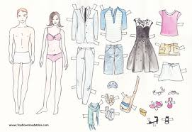 free printable paper doll cutout templates kids adults