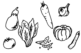 fruit and vegetable clipart black white free cliparting com