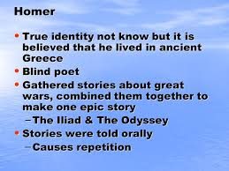 Blind Prophet In The Odyssey The Odyssey By Homer Homer True Identity Not Know But It Is