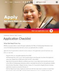 How To Write A Resume For College Application Application Checklist Virginia Tech