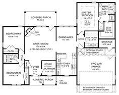 First Floor Master Bedroom Addition Plans Country Style House Plans 1700 Square Foot Home 1 Story 3