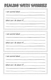 free printable self help worksheets worksheets
