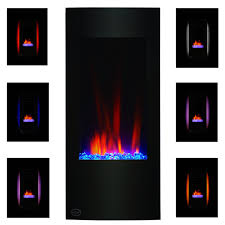 clevr 750 1500w 32 u2033 vertical electric wall mount fireplace heater
