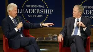 full video watch bill clinton and george w bush discuss their