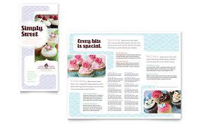 bakery brochure template free reachcenter me