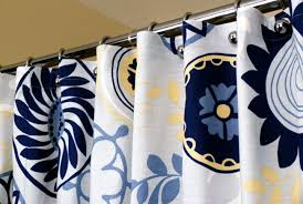 Blue And Yellow Shower Curtains Navy And Yellow Shower Curtain Home Design Plan