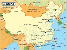 map of china and cities mobile china