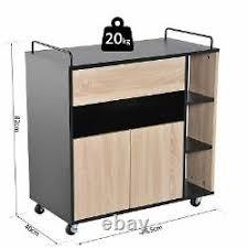 kitchen storage cupboard on wheels homcom rolling kitchen storage trolley cart cupboard island
