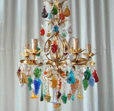 Glass Fruit Chandelier by Murano Glass Chandelier With Blue Green And Crystal Fruits For