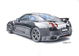 nissan skyline drawing nissan gt r family marker rendering on behance