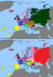 post ww1 map european territorial changes after war 1 maps