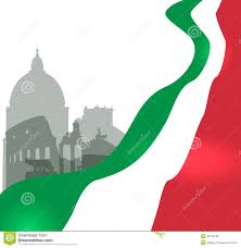 Flag Of Roma Rome Vector Illustration With Italian Flag Stock Vector Image