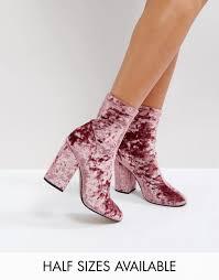 womens boots uk asos up to 65 asos elaborate sock boots pink velvet asos