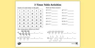Times Tables Worksheet Calculations Times Tables Primary Resources Ks2 Page 1
