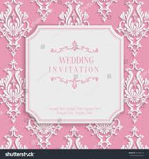 Design Patterns For Invitation Cards Vector Pink Vintage Background 3d Floral Stock Vector 273349112