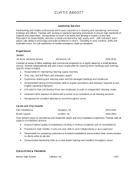 Janitor Resume Sample Professional Janitor Resume Template