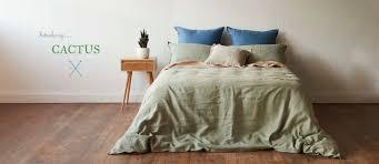 montauk style pure linen bedding