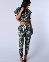 army pattern crop top womens jumpsuits and rompers army green camouflage print bodysuit