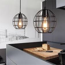 country style pendant lights loft industrial iron cage vintage pendant light american country