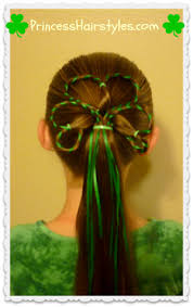 shamrock ribbon st s day hairstyles shamrock with ribbon hairstyles