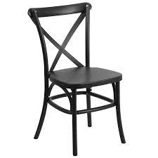 mid century modern resin indoor outdoor cross back chair with
