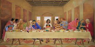 and vik muniz who made his out of chocolate syrup recreations of the last supper s