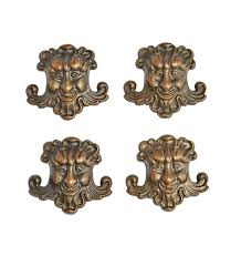 set of 4 cast brass green furniture ornaments rejuvenation