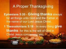 a proper thanksgiving dinner