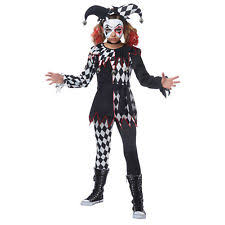 Kids Scary Clown Halloween Costumes Kids Clown Halloween Costumes Ebay