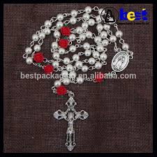 cheap rosaries cheap white pearl rosary with 6pcs fimo flower view cheap