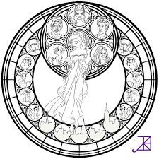 jack frost stained glass coloring page by akili amethyst on deviantart