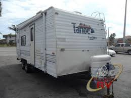 used 2000 thor tahoe transport 21 tb toy hauler travel trailer at next