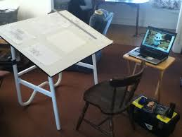 Drafting Table And Desk Fabulous My Drafting Table And Lighting Setup Art Of Wei Inside