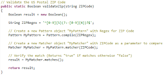 zip code validation pattern use of regular expression in apex salesforce com tips and tricks