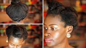 Updo Hairstyles For Short Hair Easy by Hair Updo Easy Hairstyle For Short Natural 4c Youtube