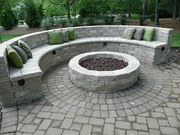 Patio And Firepit Gorgeous Outdoor Gas Pit Bowls With Backyard Landscaping