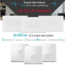 New Smart Home Products Broadlink Tc2 Uk Eu Us Switch 1gang 2gang 3gang Touch Switch Smart