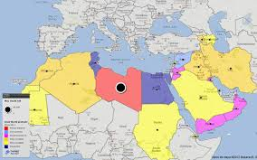 arab countries map world map of arab world protests civil revolutions by country