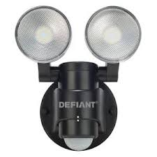 Outdoor Motion Sensor Security Lights by Defiant 180 Degree Black Motion Sensing Outdoor Security Light Df