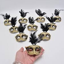 miniature mardi gras masks masquerade mask party decorations mini yiseng 12pcs