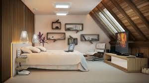 brilliant artistic bedroom ideas with laptop on double bed side