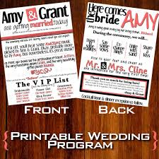 wedding ceremony programs diy modern wedding program diy printable 20 00 via etsy