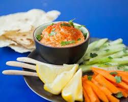 cuisine libanaise houmous recette dips de légumes houmous tomaté et libanais