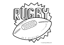 rugby sport coloring page for kids printable free 2 stickers