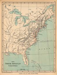 Blank Map Of The 13 Colonies by