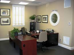 Cherry Wood Desk Impressive Office Design With Cream Wall Paint And L Shape Cherry