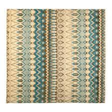 Ikat Area Rug Ikat Blue Wool Area Rug 9 9 X 10 2 Lillian August