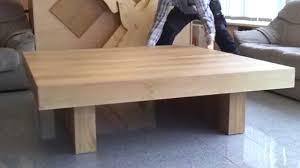 Xxl Wohnzimmer Tisch Xxl 1 5 X 1 5 M Wohnzimmertisch Couchtisch In Eiche Youtube