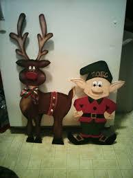 3D Wooden reindeer & elf by Cutchall Creations
