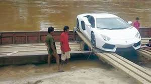 second lamborghini gallardo second lamborghini aventador crosses river on a boat lamboatini